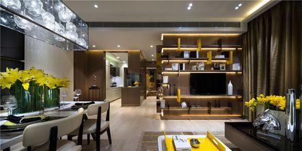 70平米英伦风格客厅设计图