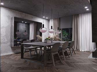 140平米四室一厅现代简约风格餐厅欣赏图