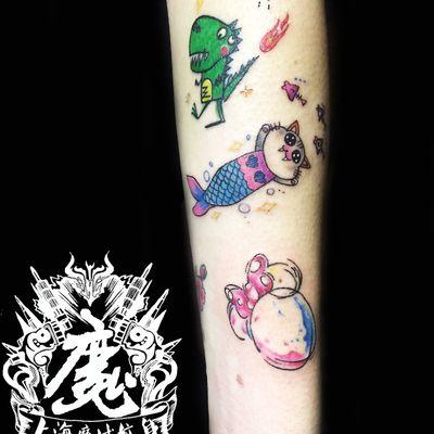 卡通纹身款式图