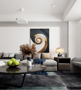 140平米四室五厅现代简约风格客厅装修效果图
