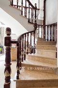 20万以上140平米三室一厅新古典风格楼梯装修效果图