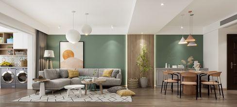 100平米一室两厅北欧风格客厅装修效果图