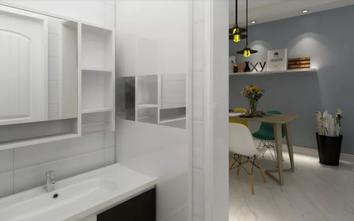 70平米一居室现代简约风格卫生间图