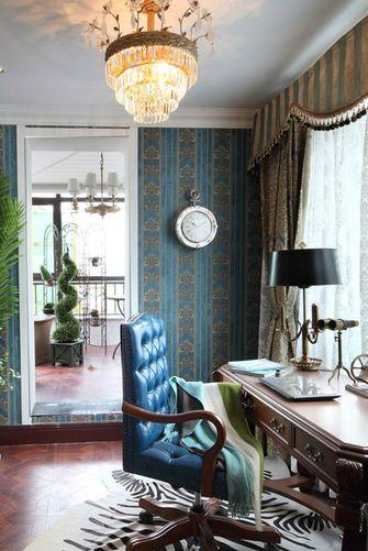 100平米三室两厅法式风格书房装修图片大全