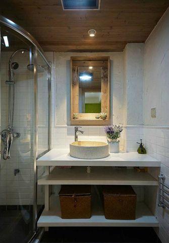 130平米三室一厅田园风格卫生间设计图